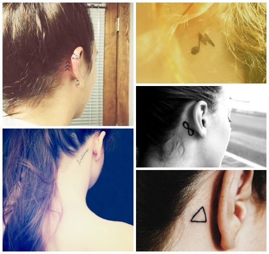 tattos behind ear