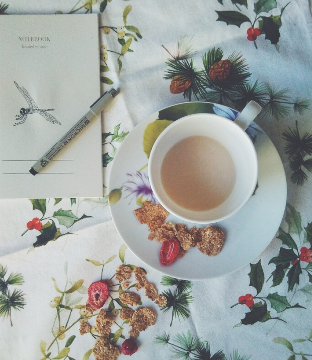 breakfast notebook pen micron cereal