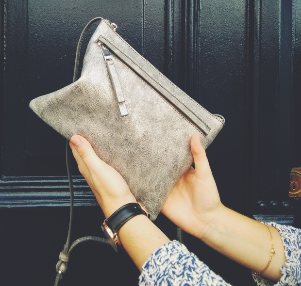Parfois silver cross bag