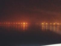 foggy seaside