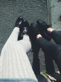 shoes thights legs
