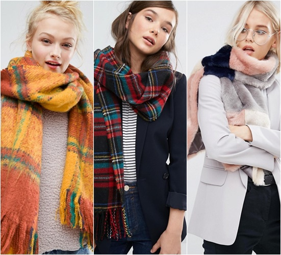 asos scarfs winter