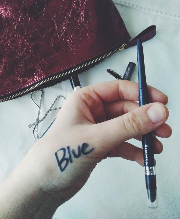 rimmel blue eyeliner makeup eyes