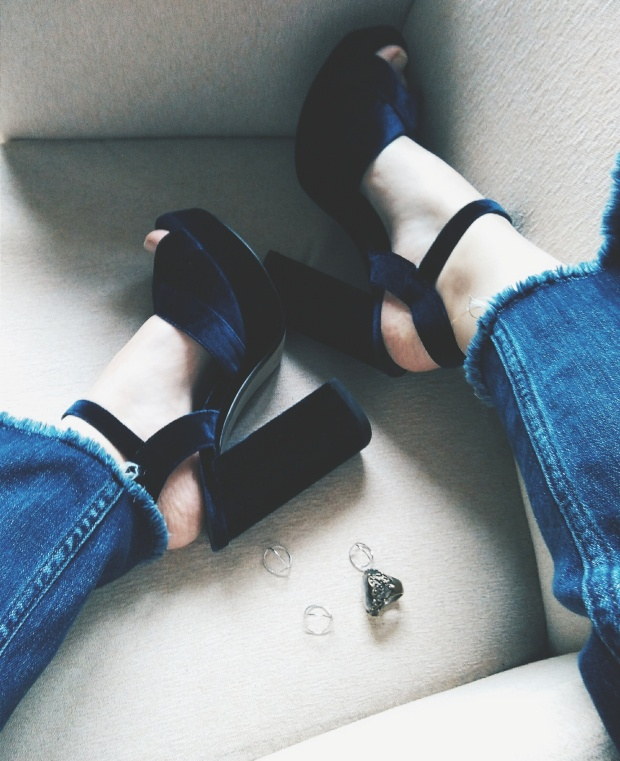 monthly edit inspiration personal mango blue velvet sandals