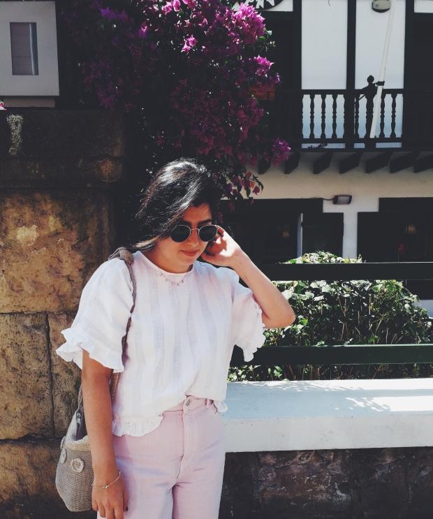 zara pink culottes