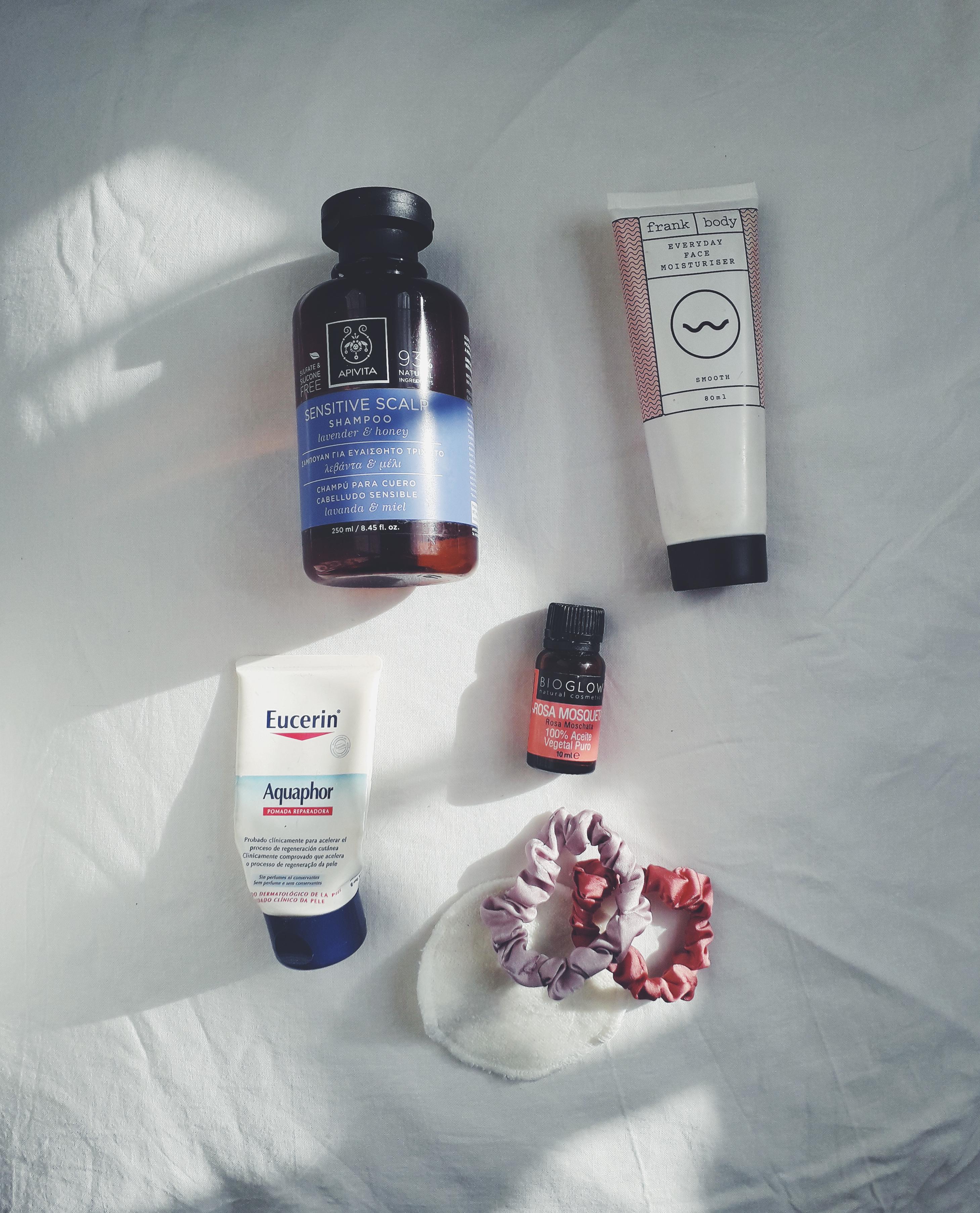 empties apivita eucerin frank body skincare